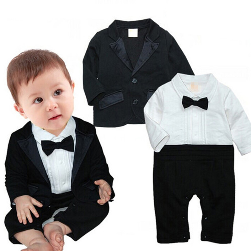 Baby Boys Tuxedo Infant Clothing Children Romper&Blazer Outfits Kids 3 pcs Baby Set Boy Clothes For Holiday Party Garments CF358(China (Mainland))