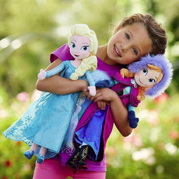 2015 Hot Sale High quality Plush Toy Queen Elsa and Princess Anna Doll 50cm Pelucia Bonecas 1pcs Brinquedo Hot Toys Dolls(China (Mainland))