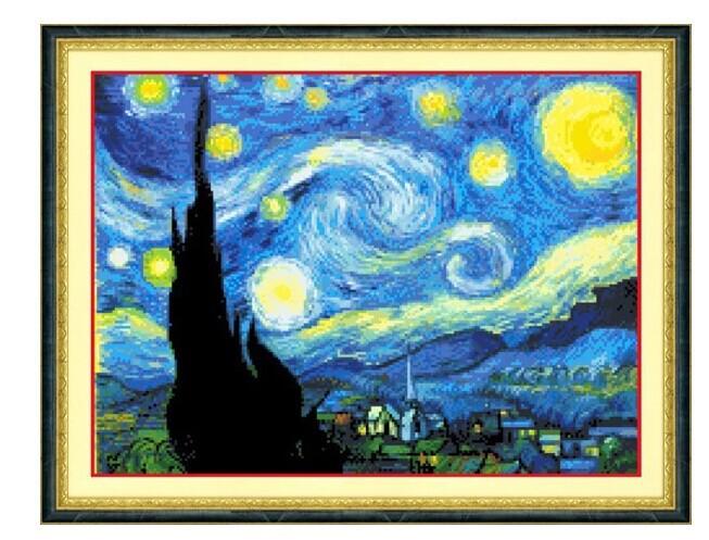 Звездная ночь ван гога вышивки