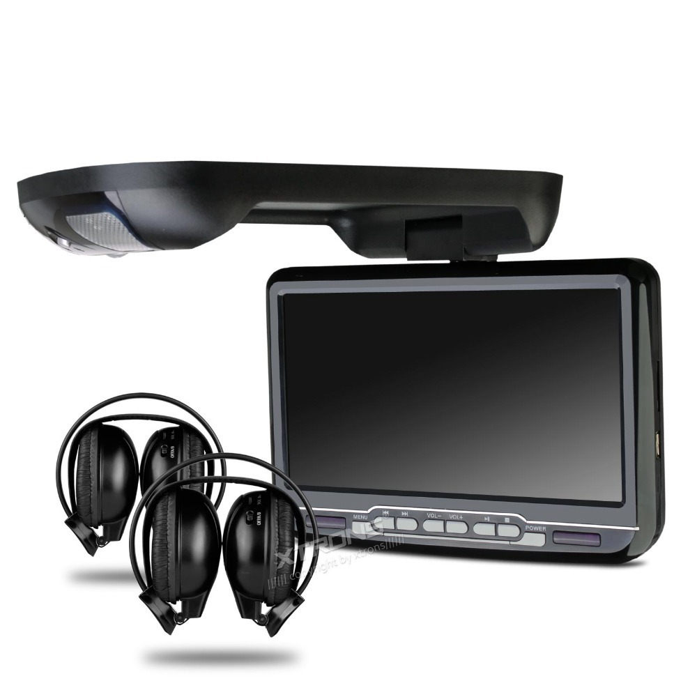 9 Inch overhead Flip Down Roof car AVI/DVD/MP3/CD Player SUPPORT 32 BITS GAME Built-In IR/FM TRANSMITTER / USB Port /SD Slot(China (Mainland))