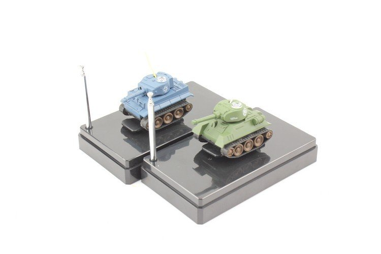 wholesale 24pcs/lot 777-215 4CH Infrared Radio Control Mini RC Tank Model with LED Light Toys for kids Children p2