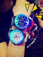 Relogio White Black Silicone Band Watches Women Men Fashion Luminous Glow Light LED Watch Wristwatches 24 Hours Shock Top SALE