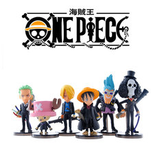 Anime One Piece Zoro Tony Chopper luffy sanji brook Franky PVC Action Figurine Collectibles Dolls Toys Christmas Gift