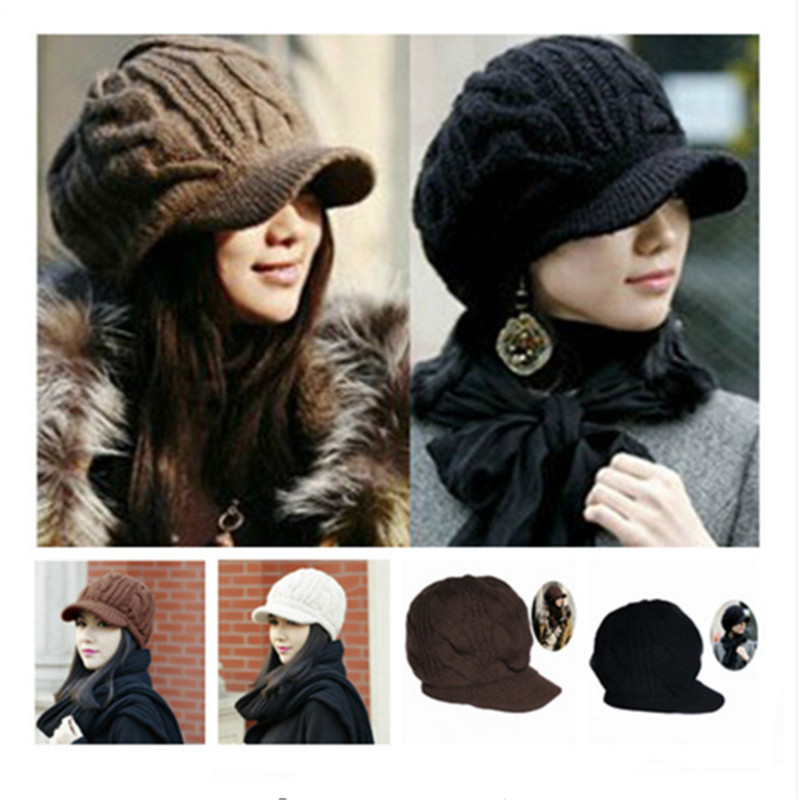 New Arrival Peaked Cap Women Hat Winter Caps Knitted Hats For Woman Lady's Headwear Cloth Accessory(China (Mainland))