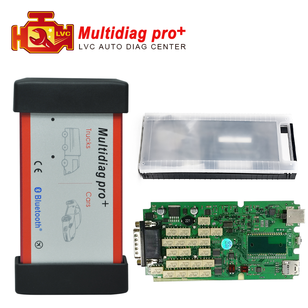2016 Best Quality Single Green PCB tcs cdp Multidiag pro+ 2014.3 version with 4GB TF card auto with Plastic case(China (Mainland))