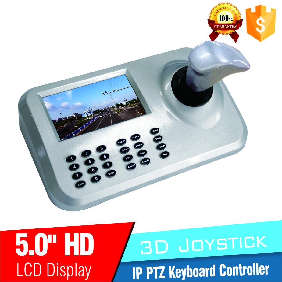 "5inch LCD IP PTZ Keyboard control IP High Speed Dome Camera 3D Joystick 5.0"" HD LCD Display Network PTZ Keyboard Controller(China (Mainland))"