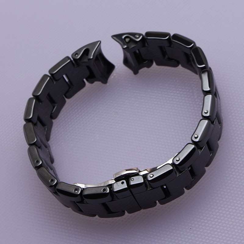 Изогнутый конец Ремешки Для Наручных Часов 22 мм Высокое Качество Керамической Ремешок белый черный Алмаз Смотреть fit 1400 1403 1410 1442 Man часы браслет