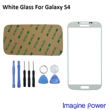 White Color Front Outer Glass Lens Screen For Samsung Galaxy S4 GT-i9500 Replacement +Tools+Adhesive