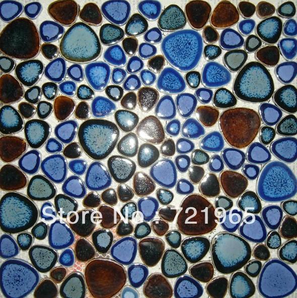 Glazed pebble mosaic tiles PPMT001 pebble flooring tiles porcelain pebble mosaics bathroom tiles porcelain mosaic tiles<br><br>Aliexpress