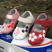 2016Spring Autumn infant children Genuine leather shoes for girls baby  princess toddlers first walkers leather sneakers flowers(China (Mainland))
