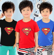 Love Kids Baby Boys Clothes Cool Summer Superman Short Sleeve T shirt Cotton Tops Clothes LXL