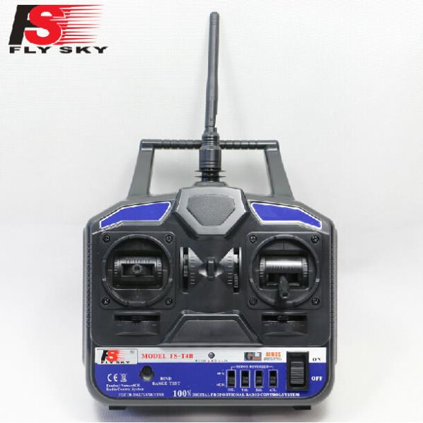 New FlySky 2.4G 4CH Channel FS-T4B Transmitter + Receiver Radio System Remote Controller Mode1/2 W/ Rx RC Heli Multirotor(China (Mainland))