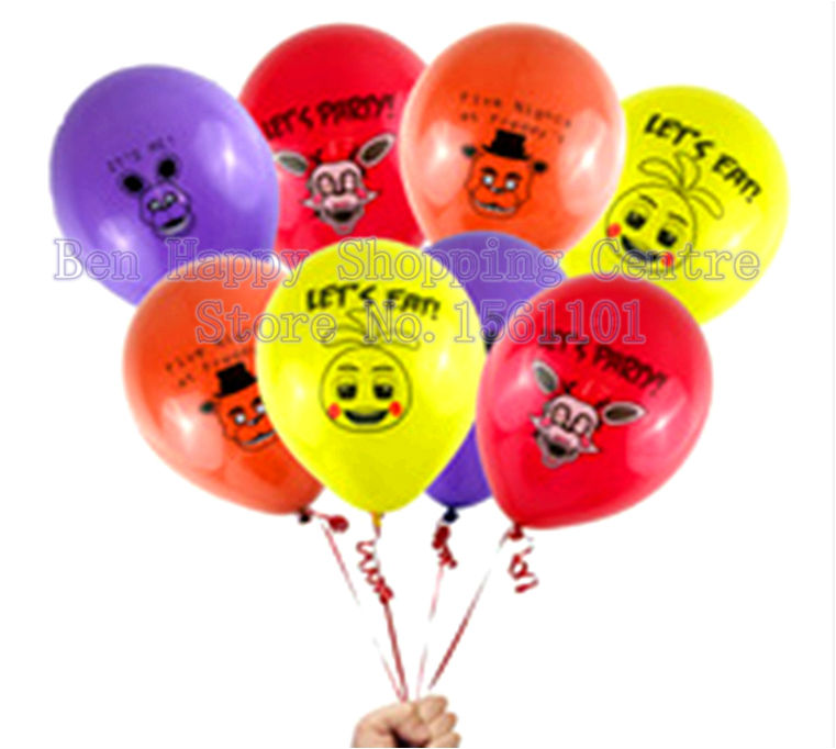 Newest 20 pcs/lot Top Quality Five Nights At Freddly's Balloon for Party Decoration Thick Latex Toy Christmans Decoration(China (Mainland))