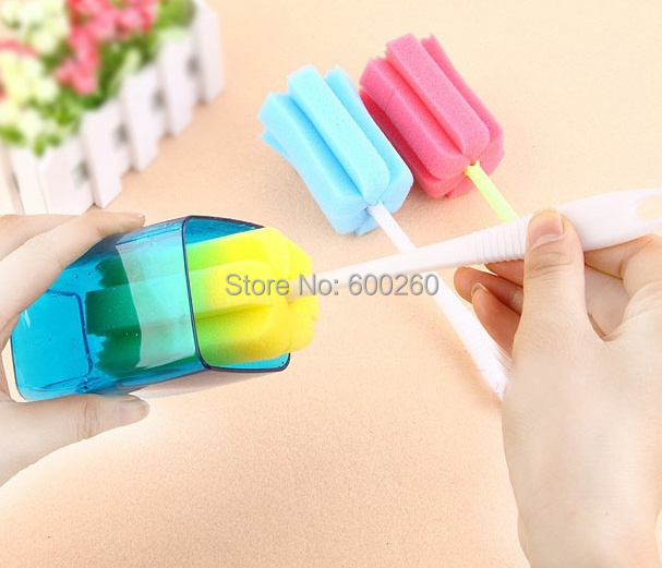 Kitchen Cleaning Tool Sponge Brush For Wineglass Bottle Coffe Tea Glass Cup Mug Free Shipping(China (Mainland))