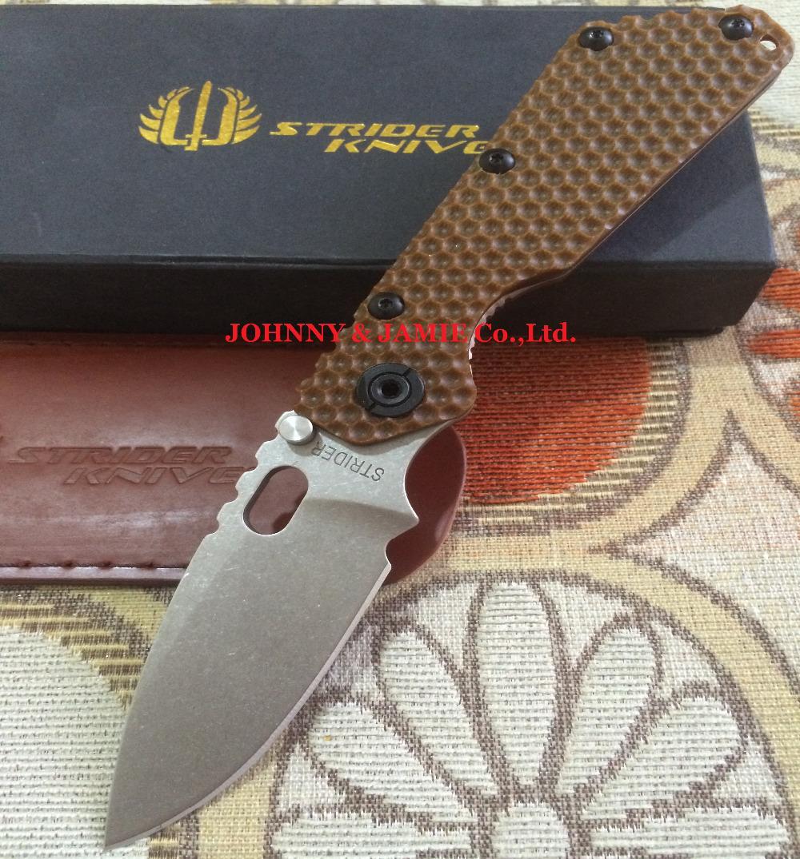 Strider SMF folding knife D2 steel titanium alloy TC4&G10 handle Tactical Hunting Survival pocket knives edc Multi tools(China (Mainland))