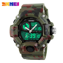 S-Shock Men Sports Watches Skmei LED Digital-Watch Fashion Outdoor Waterproof Climbing Rubber Army Military Watch Reloj Hombre
