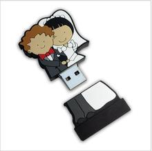 100 шт./лот свадебное USB2.0 4 ГБ 8 ГБ 16 ГБ 32 ГБ 64 ГБ ручка привода мультфильм свадебные подарки USB диск по ключевым USB ключевые ad подарок настроены логотип