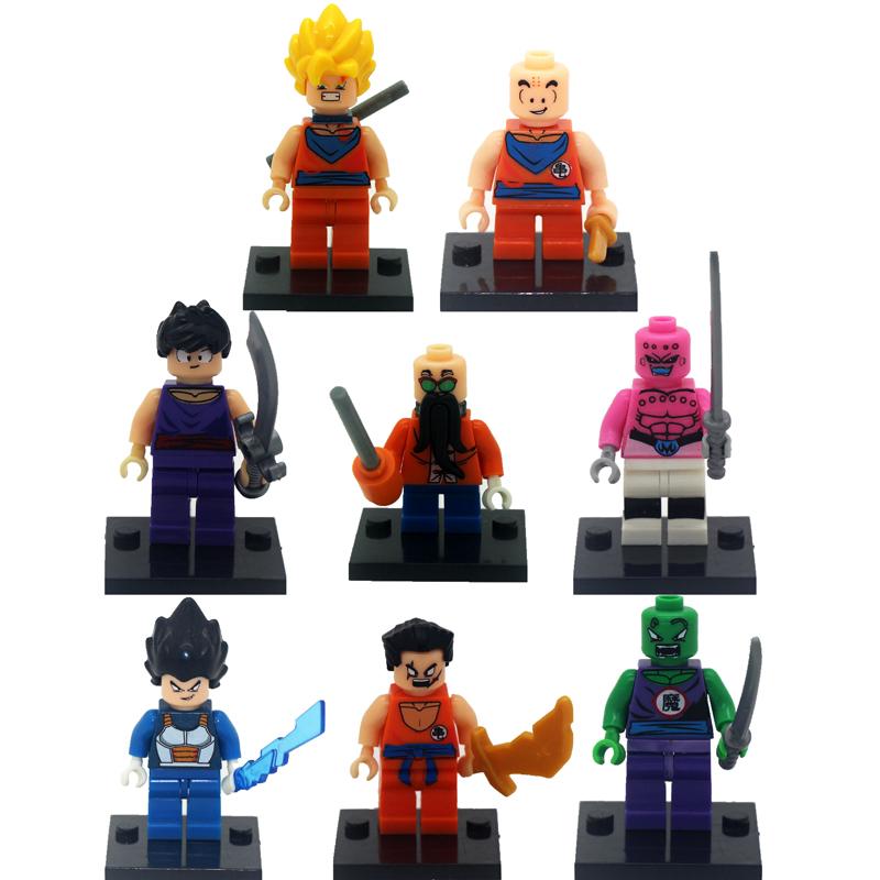 Hot 8pcs/lot Dragon Ball Kid Baby Toy Mini Figure Building Blocks Sets Model Toys Minifigures Brick Best gift<br><br>Aliexpress