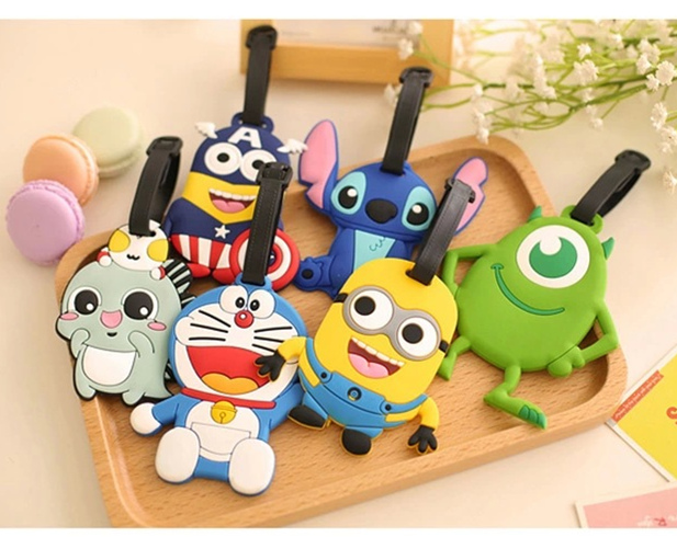 Cute luggage tag Travel Luggage Tag portable suitcase bag Label mixproof security Travel Accessories 7 styles Baggage Tag PVC(China (Mainland))