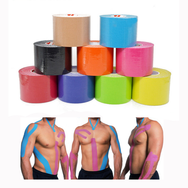 Quality elastic cotton roll adhesive kinesio taping Sports injury muscle strain protection taping first aid bandage support