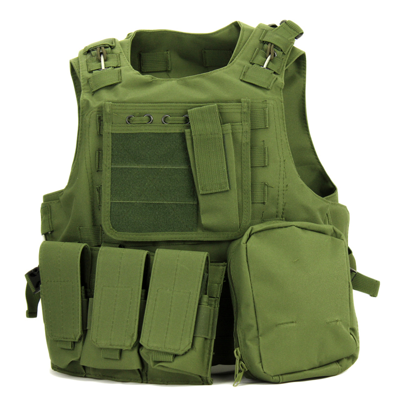 2015 New army USMC Airsoft Tactical Military Molle Combat Assault Plate Carrier Vest vest 7 Colors - SXM Fashion World store