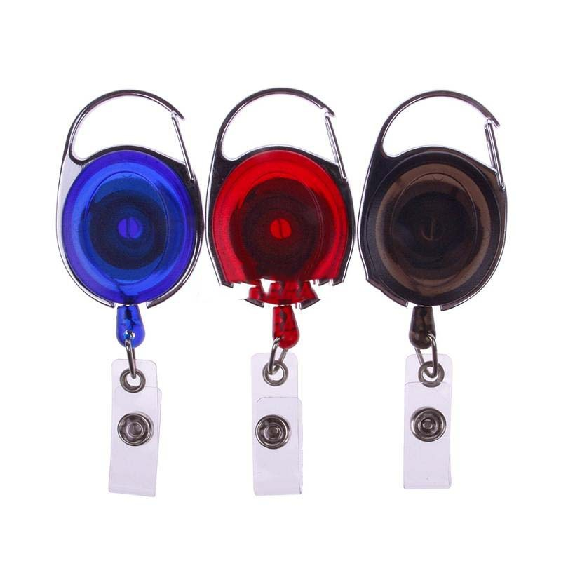 MiniSale Fashionable 1 Pcs New Useful Carabiner Style Retractable Reel Key ID Badge Holder Office Tool