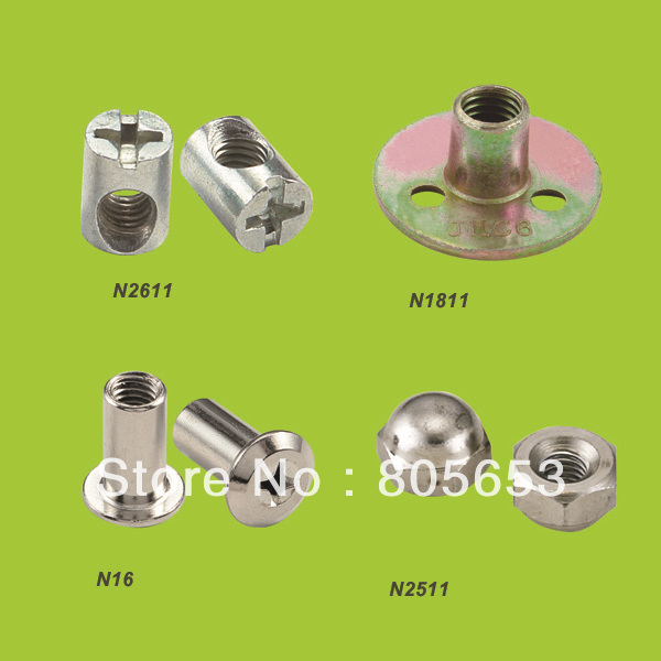 High quality Furniture cross head hammer nut barrel nut (N2611)