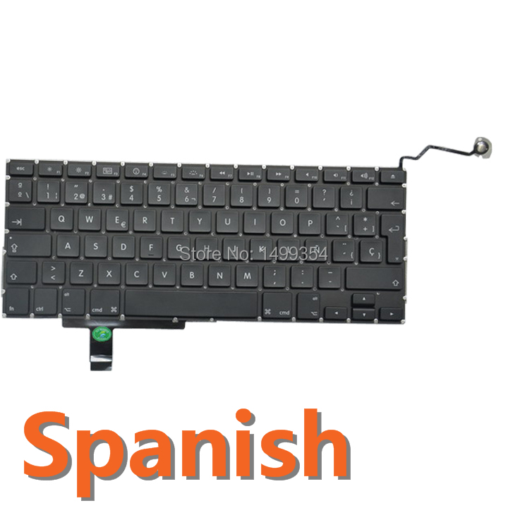"For Macbook Pro 17"" A1297 MD318 MC725 MC024 Original Laptop Spanish/Spain Keyboard SP Keyboard Free Shipping(China (Mainland))"