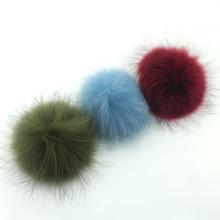 14 - 15cm Raccoon Fur Ball Fur Pom Poms Fur Pompom for Hat winter Skullies Beanies Hat Cap Bag Key chain Clothes(China (Mainland))