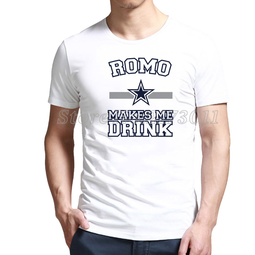 Frugal Slim Fit Romo Makes Me Drink - Dallas Cowboys T-Shirt Outlet Online(China (Mainland))