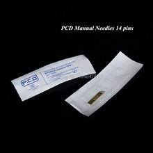 50pcs PCD Permanent Tattoo Makeup Manual Needels Blade 14 Pins For Eyebrow Makeup Free Shipping(China (Mainland))
