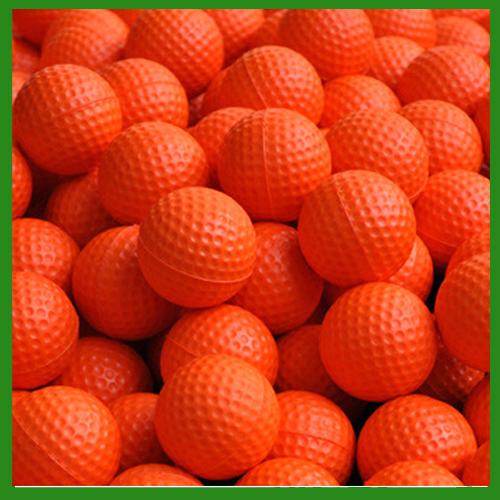 (10pcs/pack) Orange PU Golf Foam Balls Soft Indoor Practice Golf Balls Training Golf Ball Training Aid(China (Mainland))