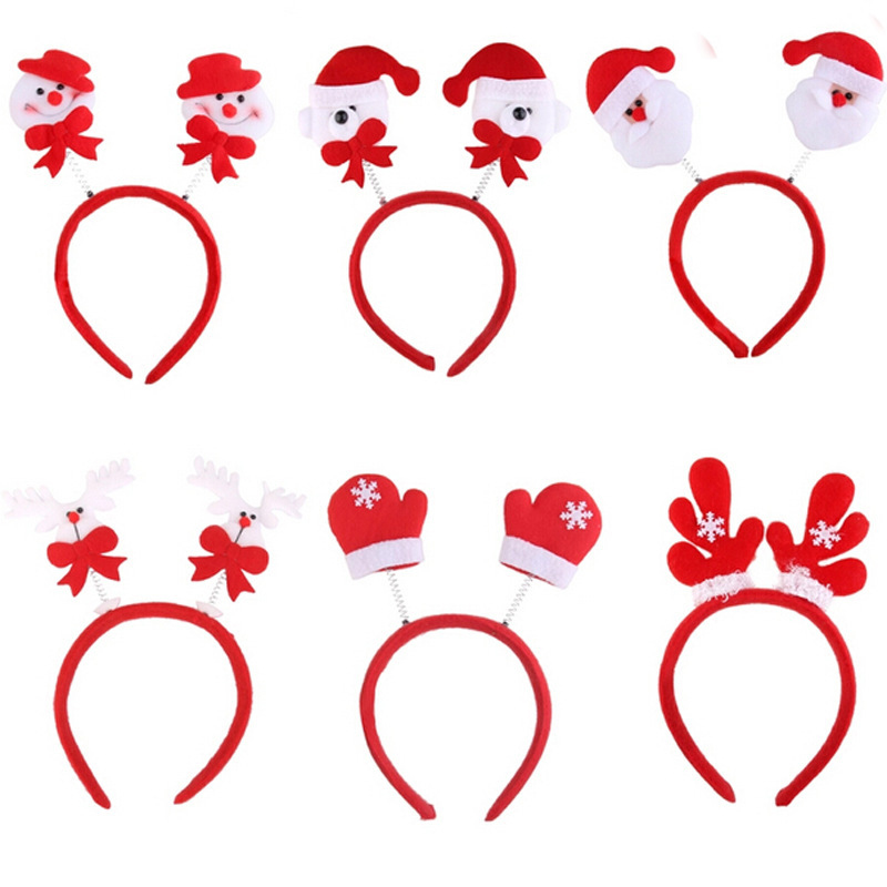 Christmas Ornaments Party Queen head buckle children headband supplies Christmas gifts wholesale manufacturers(China (Mainland))