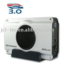 """USB3.0 3.5"""" sata hdd external enclosure box case with 8cm fan support 2TB(China (Mainland))"""