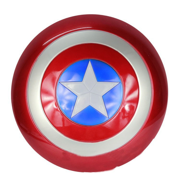 New Super Heroes the avengers Movie Model Captain America Shield with Sound and LED light PVC Action Figures dolls toys(China (Mainland))