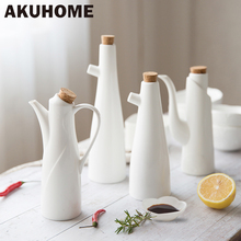 Ceramic Porcelain Olive Oil Pot Soy Sauce Vinegar Seasoning Can Oil Bottle Kitchen Accessories Cooking Tools Storage Bottles(China (Mainland))