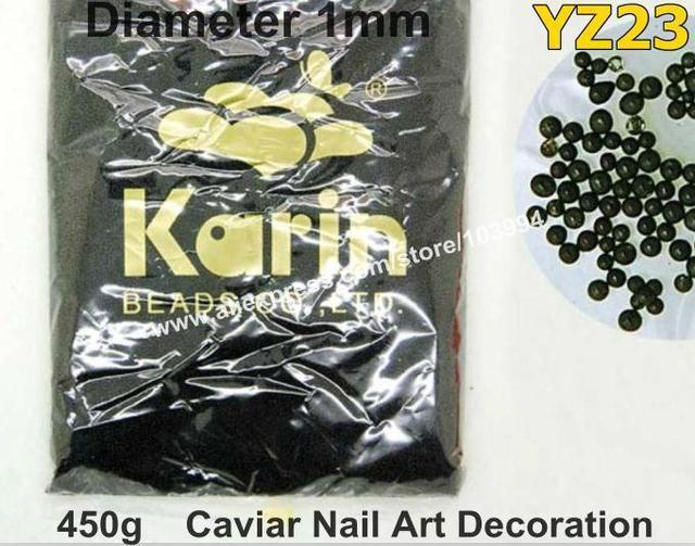Freeshipping 450g Black Color Caviar Nail Art Decoration 3D Acrylic Nail Art Caviar Mini Balls Fashion Decorative Materials YZ23