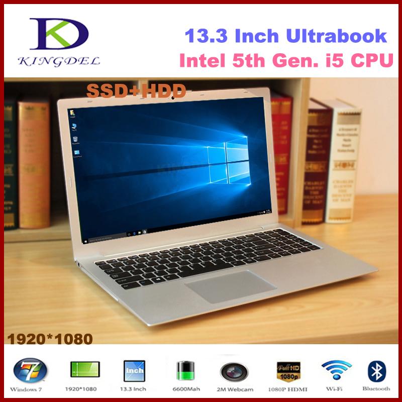 Best selling Ultrabook Core i5-5200U Dual Core metal case laptop computer 8GB RAM 256GB SSD,1080P, WIFI, Bluetooth,Windows 10(Hong Kong)