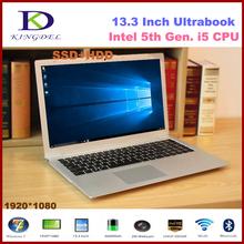 Best selling Ultrabook Core i5-5200U Dual Core metal case laptop computer 8GB RAM 256GB SSD,1080P, WIFI, Bluetooth,Windows 10