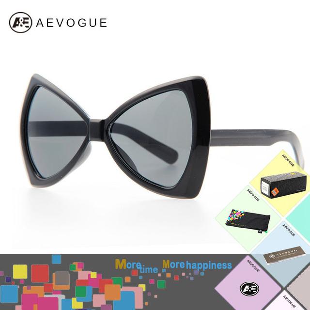 Aevogue с оригинальный чехол новые мода большой бантом бренд солнцезащитные очки женщин высокое качество большая рамка оптические солнцезащитные очки AE0154