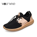 Couple Gold Air Mesh Glossy Men Casual Basket Femme Light Soft Shoes Fashion Breathable Outdoor Sapatos