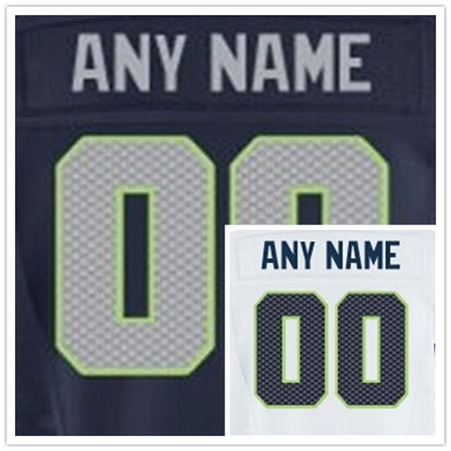 Cheap Seattle Customized Jersey Men Women Kids Any Name Any Number Jersey Football Rugby Jersey Stitched Logos Size 60 XXXL(China (Mainland))