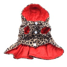 Buy Hot Sales Factory Price! Pets Dogs Leopard Pattern Tutu Coat Dress Puppy Hoodie Sides Wear Clothes for $2.27 in AliExpress store