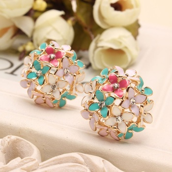 Flower Four Leaf Stud Earrings