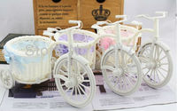 free shipping,tricycle bandwagon vase meters receiver flower set,home decoration