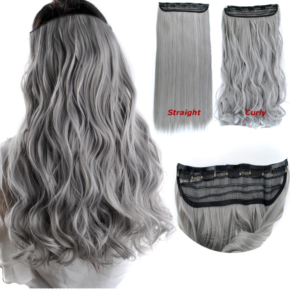 Clip In Hair Extensions Natural Grey Gray Clip In Pieces