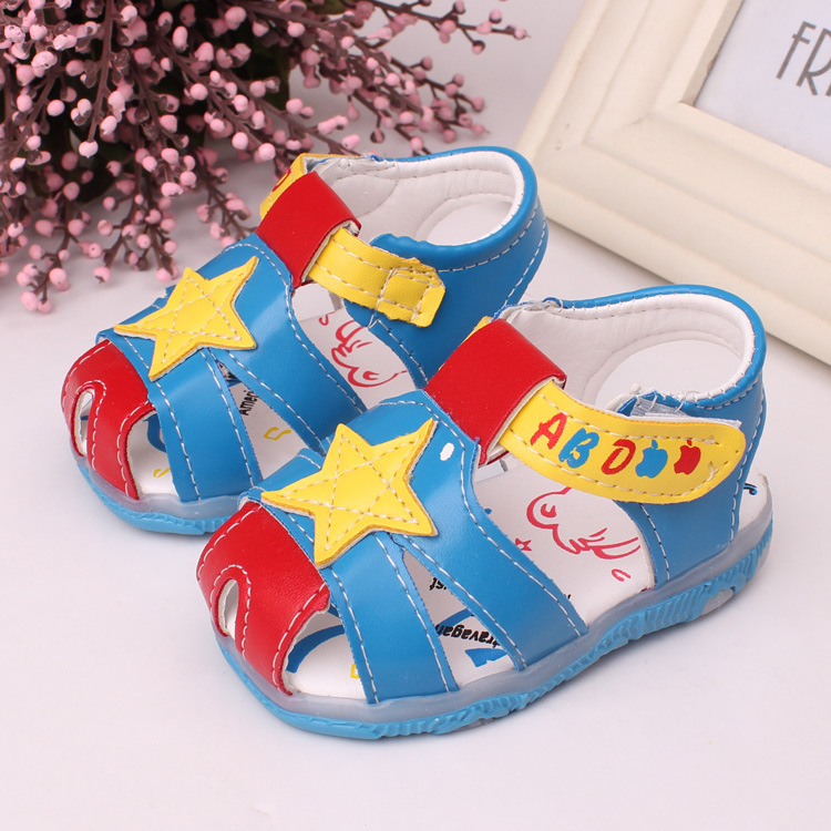 New Fashion Baby Walking Shoes Toddler Boys Girls Sandals Baby Sandals For summer Squeaky shoes(China (Mainland))