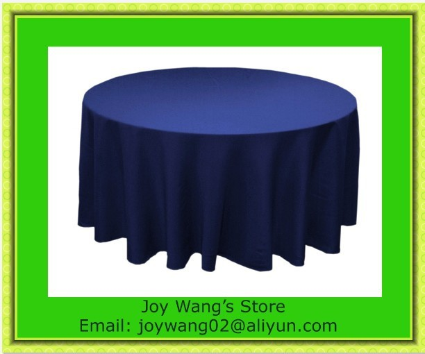 Hot Sale & Factory Price !!! 10pcs Blue 108inch Plain table cloth for weddings parties hotels restaurant Free Shipping(China (Mainland))