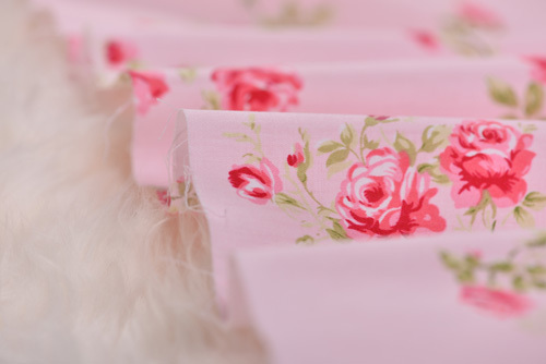 YY DIY Pink Flower Fabric 100% Cotton Solid Color Twill Cloth for Patchwork Quilting Flesh Tissue 160*50cm(China (Mainland))