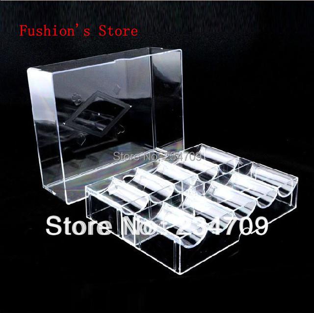 Free shipping,hot sell!Acrylic chips / 200 yards transparent chips poker chips/poker set/poker chip set/texas/poker,1 pcs/lot